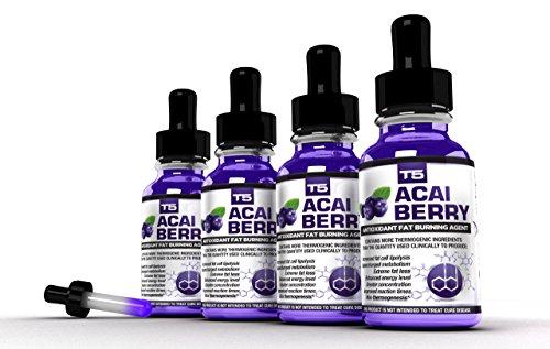 Biogen salud ciencia x 4 T5 Acai Berry sueros: Poderoso Acai antioxidante quemadores de grasa (suministro de 4 meses)