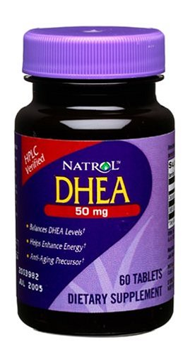 DHEA (dehidroepiandrosterona) 50 Mg suplemento alimenticio tabletas - 60 Ea
