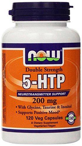 Ahora alimentos: apoyo de neurotransmisor 5-HTP 200 mg, 120 vcaps