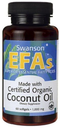 Certificado de aceite de coco orgánico 1000 mg 60 cápsulas