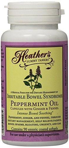 Barriga Tamers menta aceite de cápsulas de Heather (90 por botella) de IBS
