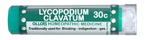 Ollois lactosa libre de medicamentos homeopáticos, Lycopodium Clavatum 30C Pellets, cuenta 80