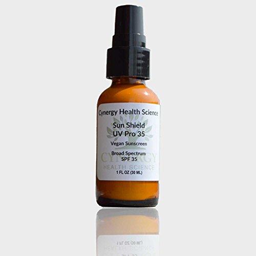 Cynergy salud ciencia vegano Natural protector solar - fps 35 + - seguro para todo tipo de piel - probado para mantener la piel del envejecimiento