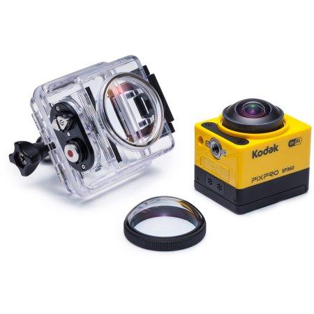 """Kodak PIXPRO SP360; Acción videocámara con 1"""" Estado de LCD y estabilización electrónica de la imagen incluye Aqua Sport Pack de accesorios"""