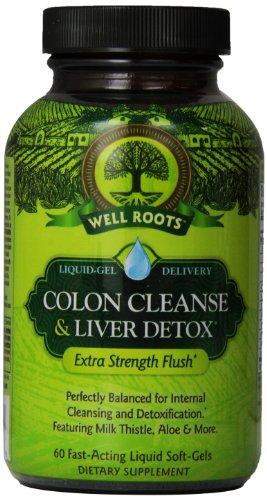 Bien raíces Colon Cleanse y suplemento de desintoxicación hepática, cuenta 60