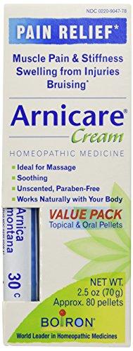 Árnica crema valor Pack crema y pastillas de árnica 30C Boiron 2.5 oz