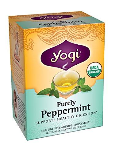 Yogui puramente té de hierbabuena, 16 bolsas de té, 0,85 onzas (paquete de 6)