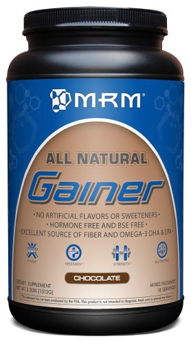 MRM 100% NATURAL GAINER, CHOCOLATE, 3,3 LB tina