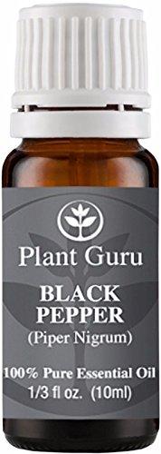 Aceite esencial de pimienta negra. (Piper Nigrum) 10 ml. 100% puro, sin diluir, terapéutica grado.
