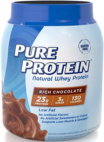 Proteína pura 100% Natural proteína, rico Chocolate, bañera de 1,6 libras