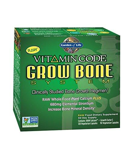 Jardín de vida vitamina código crecer hueso sistema 30 días de suministro
