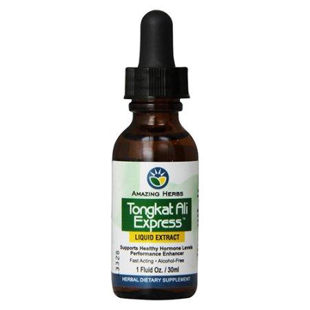 Amazing Herbs Tongkat Ali expreso extracto líquido sano respaldo hormonal 1 oz 3 Pack