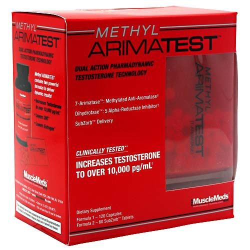 Methyl Arimatest, 120 cápsulas + 60 SubZorb tabletas de MuscleMeds