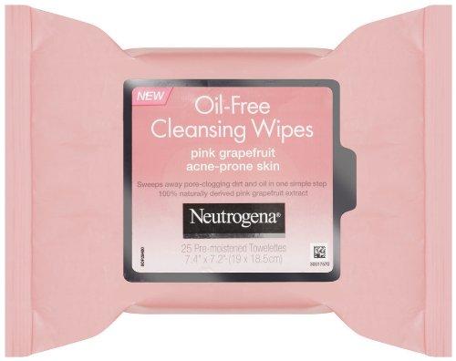 Toallitas de limpieza de Neutrogena, pomelo rosado, cuenta 25