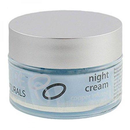 péptido de cobre anti-envejecimiento y las arrugas crema de noche- Tarro 1 oz - todos humectante natural - zinc y magnesio para