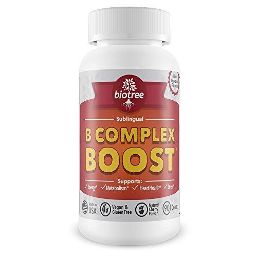 B12 Vitamina Sublingual--esta píldora de energía complejo B está repleto de metilcobalamina B12, B6, biotina y ácido fólico. Energía natural suplemento apoya metabolismo, salud del corazón y estrés. Gran Cata de sabor cereza! Cafeína 100% gratuita para ho