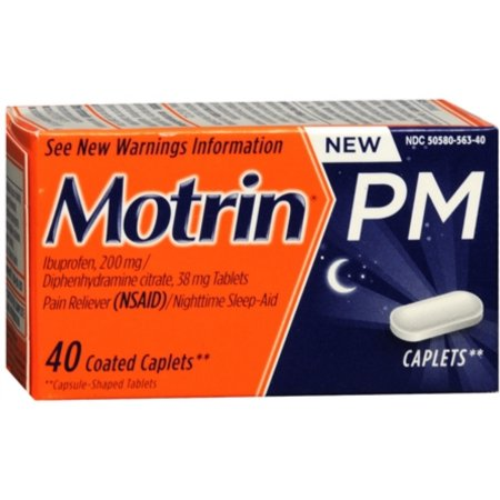 Motrin PM Coated Caplets 40 ea (Pack de 2)