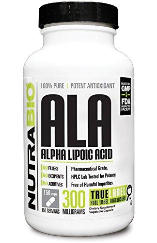 NutraBio alfa lipoico (ALA) 300 mg - 150 Cápsulas vegetales
