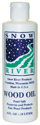 Aceite de madera de 8 onzas de Río de nieve
