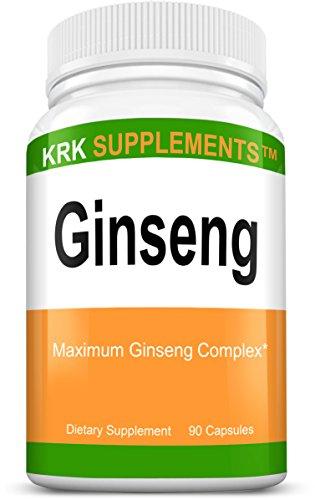 1 botella de Ginseng 1000mg por porción de Panax Ginseng extracto de Eleutherococcus Senticosus Ginseng coreano 90 cápsulas suplementos de KRK