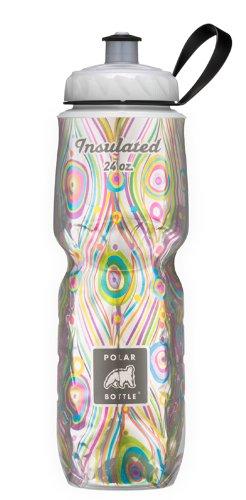 Botella de polar aislado 24 onzas de la botella de agua, pavo real,