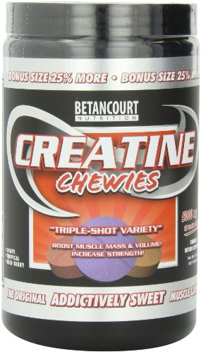 Betancourt nutrición creatina Chewies, variedad de Triple-disparo, 5000mg, tabletas de 160