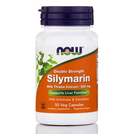 NOW Alimentos silimarina cardo de leche Extracto de hígado función de soporte 300 mg 50 Ct