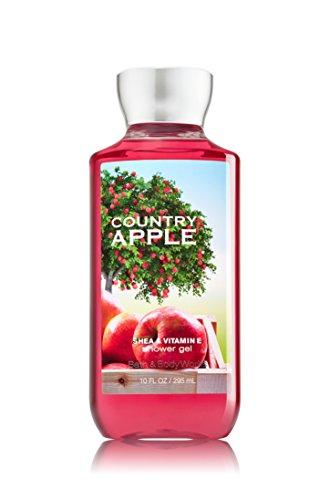 Baño y cuerpo funciona país Gel de ducha manzana - colección de la firma - botella de 10 onzas