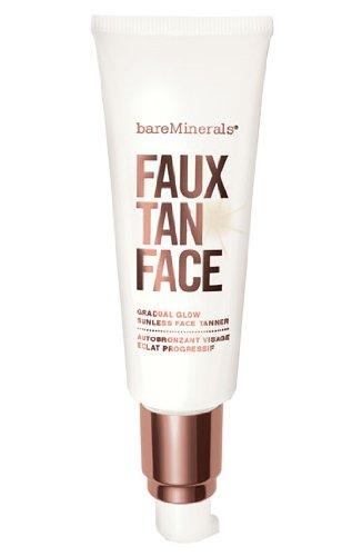 Bareminerals falso bronceado rostro protector solar, 1.7 onza líquida