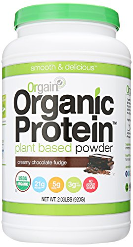 Orgain orgánicos basados en plantas polvo de proteína, cremoso Chocolate Fudge, libra 2,03