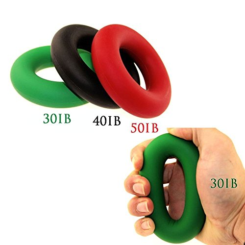 Hotrose ® U.S. 3 piezas Set mano pinza agarre silicona anillo resistencia fuerza Trainer ejercitador
