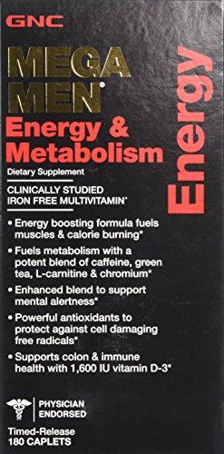 GNC Mega Men energía y metabolismo 180 cápsulas