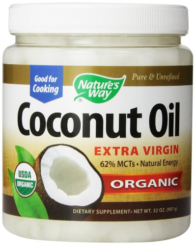 Aceite manera Extra Virgen de coco orgánico de la naturaleza, 32 onzas