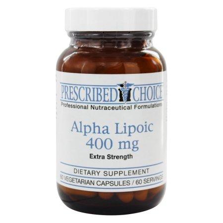 Prescribed Choice - ácido alfa lipoico fuerza adicional de 400 mg. - 60 cápsulas vegetales