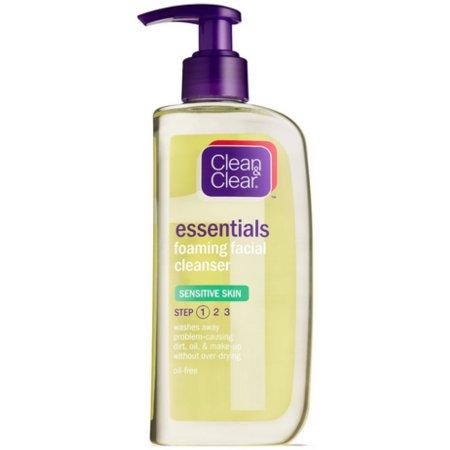 Paquete de 2 - Clean - Clear Espuma Limpiadora Facial Piel Sensible 8 oz