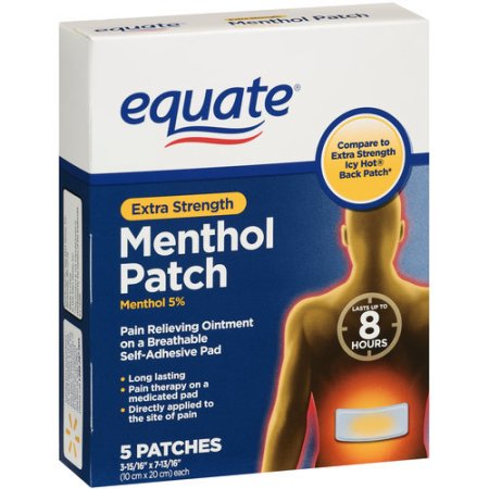 Equate Extra Strength Mentol Patch 5 Parches