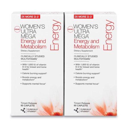 GNC de la Mujer Ultra Mega Energía y Metabolismo de multivitaminas - 180 ct.