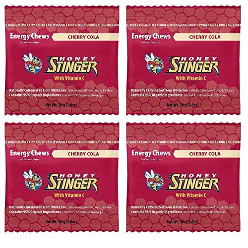 Energía orgánica de miel Stinger mastica - Cola cereza con cafeína (bolsas de 4 x 1.8oz)