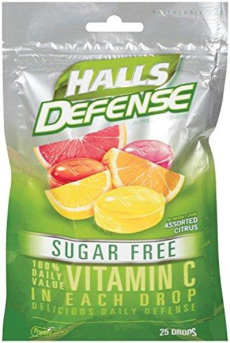 Salas de defensa gotas, surtidas cítricas, 25-cuenta gotas azúcar gratis (Pack de 12)