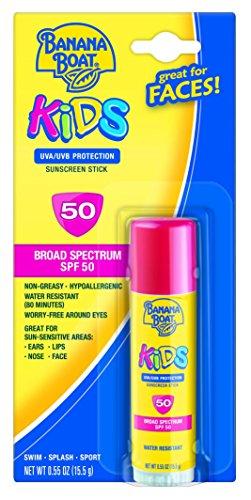 Banana Boat protección solar niños amplio espectro solar protector solar Stick - SPF 50 (paquete de 4)