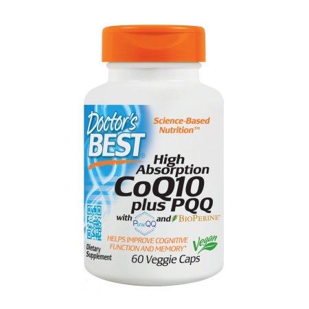 Doctor's Best alta absorción de CoQ10 Plus PQQ Cápsulas, 60 Ct