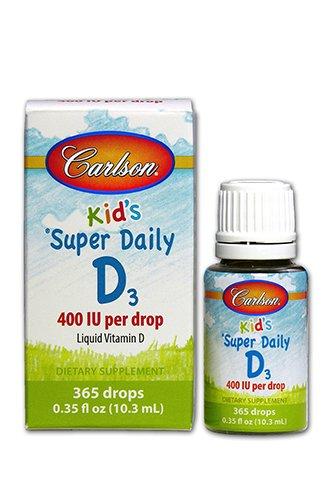 Carlson Super diario D3 400 IU para niños 0.35 fl.oz (10.3 ml)