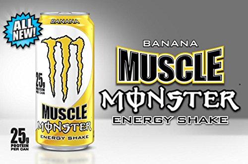 8 pack - monstruo muscular energía Shake - Banana - 15oz.