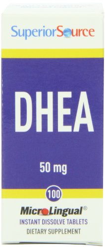 Fuente superior DHEA multivitamínico, 50 mg, 100 cuenta