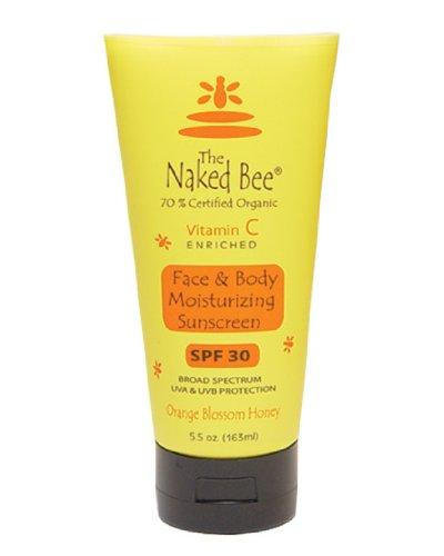 La abeja desnuda Vitmin C hidratante protector solar SPF 30, 5,5 oz (163 ml.)