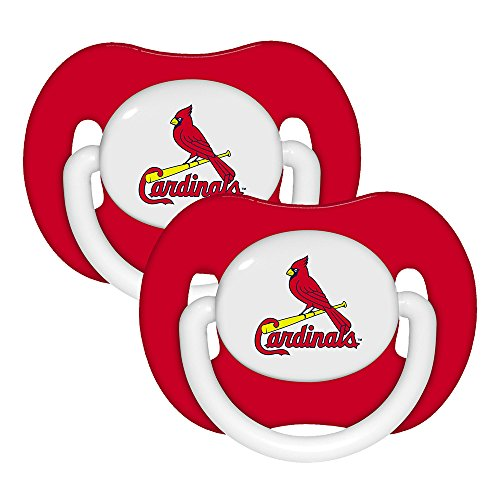 MLB de St. Louis cardenales Pack 2 chupetes