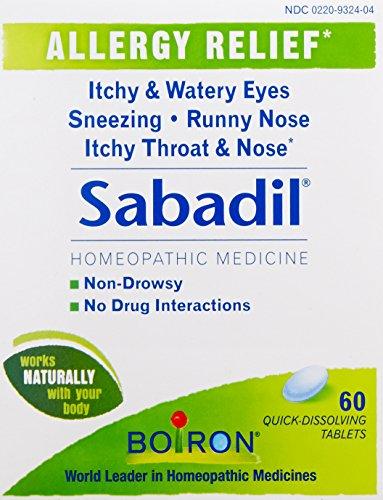 Boiron medicina homeopática Sabadil pastillas para la fiebre del heno y alergias, cajas de 60-Count (paquete de 3)