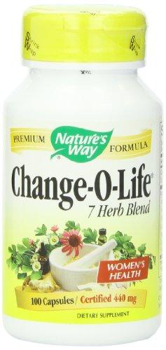 Cierto cambio O de vida mezcla de 7 hierbas de la naturaleza, 440 mg, 100 cápsulas