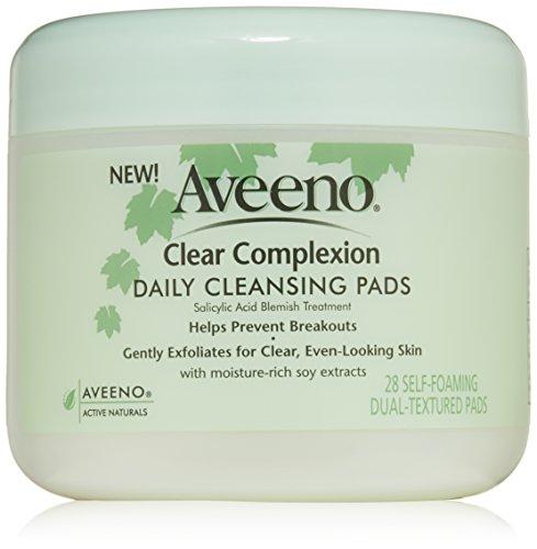 Aveeno Active Naturals claro tez almohadillas limpieza diaria, cuenta 28