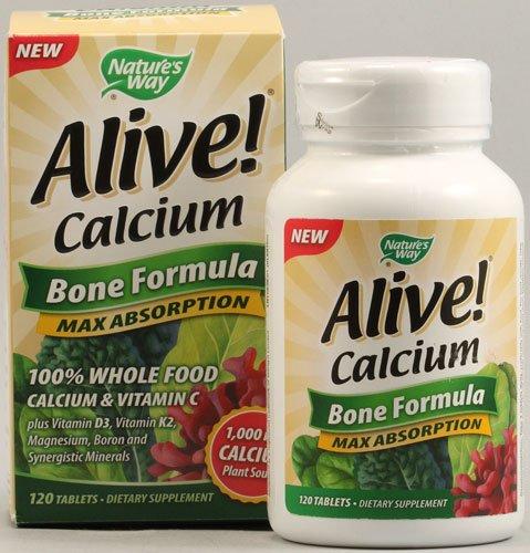 Naturalezas manera vivo calcio hueso fórmula tabletas - Ea 120, paquete de 4
